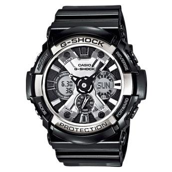 4506516e733636 Zegarek męski Casio G-Shock na pasku GA-200BW-1AER Casio - zapytaj o ...